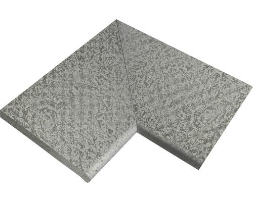 Bordure de piscine margelle Margo élément plat angle à 90° gris perle moiré 49,5 x 31 x 3,2 cm