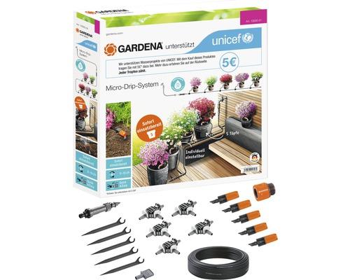 Kit système Micro Drip GARDENA pour jusqu''à 5 pots de fleurs pour l''UNICEF