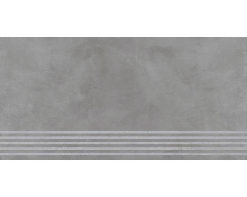 Carrelage de marche Cementine gris 30 x 120 cm