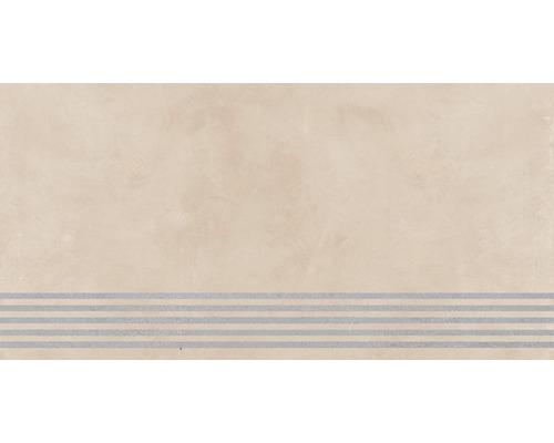 Carrelage de marche Cementine crème 30 x 120 cm
