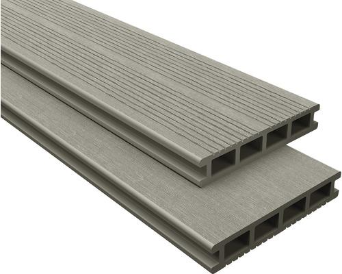 Lame de terrasse en composite gris 26x145x2200 mm