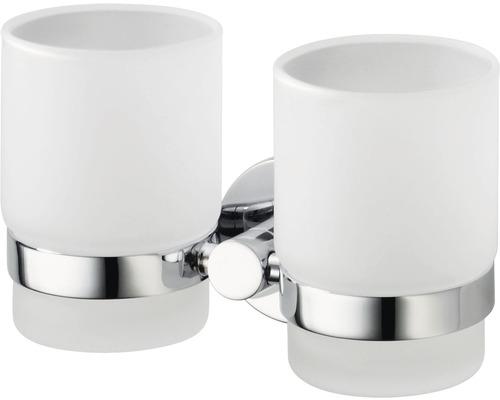Double porte-gobelets Haceka Kosmos chromé