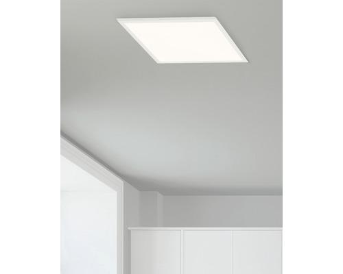 Plafonnier LED Ceres blanc avec 1ampoule 1000lm 3000K blanc chaud 250x250mm