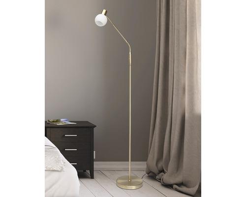 Lampadaire LED 3W 250 lm 3000 K blanc chaud h 1400 mm Philo laiton brossé/crème