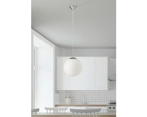 Suspension Fantasia blanc-alu 1 x 60 W E27 Ø 30 cm