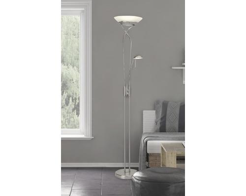 Plafonnier LED 4,5W 1600 lm 3000 K blanc chaud h 1800 mm Ollie fer/blanc