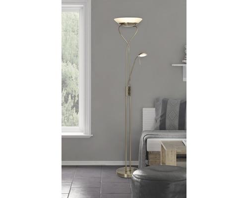 Plafonnier LED laiton/antique avec 2 ampoules 1600lm 3000K blanc chaud H 1800mm-0