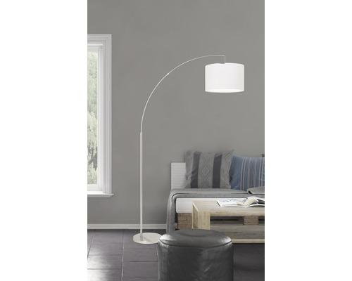 Lampe courbée 1 ampoule h 1800 mm Clarie blanc
