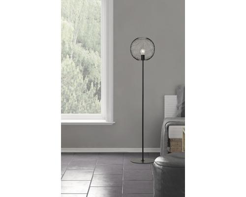 Lampadaire Soco 1 ampoule hxØ 1460/300 mm noir avec interrupteur à pied