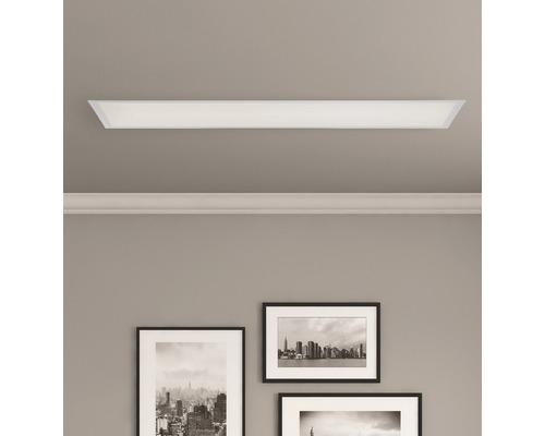 Plafonnier LED à intensité lumineuse variable 36W 3.000lm 2.700-6.500K 1.200x300mm Allie avec fonction veilleuse + effet de rétro-éclairage + télécommande