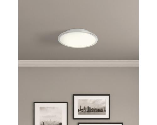 Plafonnier LED Ceres fer/blanc avec 1ampoule 1000lm 3000K blanc chaud Ø 250mm