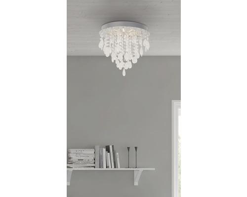 Plafonnier LED 1x15W 900 lm 3000 K blanc chaud Ø 330 mm Alica chrome
