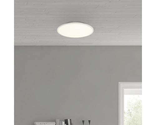 Plafonnier LED Ceres Easydim blanc avec 1ampoule 2000lm 3000K blanc chaud Ø 350mm