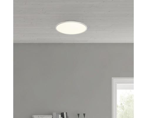 Plafonnier LED Ceres Easydim fer/blanc avec 1ampoule 2000lm 3000K blanc chaud Ø 350mm