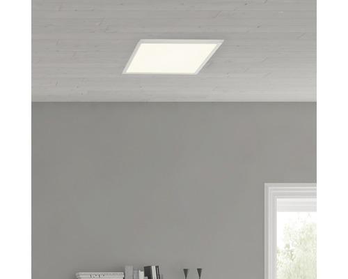 Plafonnier LED Ceres fer/blanc avec 1ampoule 1000lm 3000K blanc chaud 250x250mm