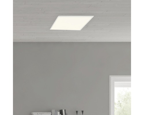 Plafonnier LED Ceres Easydim blanc avec 1ampoule 2000lm 3000K blanc chaud 350x350mm
