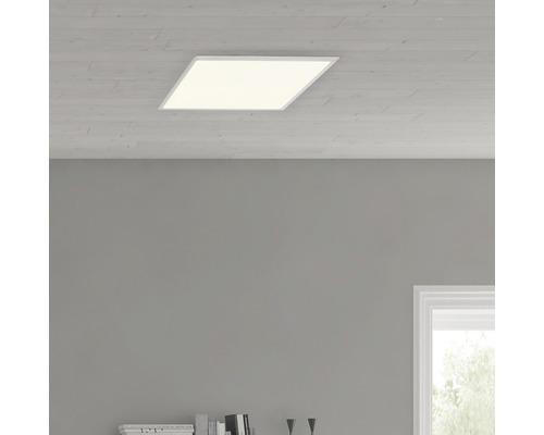 Plafonnier LED Ceres Easydim fer/blanc avec 1ampoule 2000lm 3000K blanc chaud 350x350mm