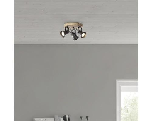 Rosace de plafond Dorisa 3 ampoules 5W GU10 Ø 28 cm