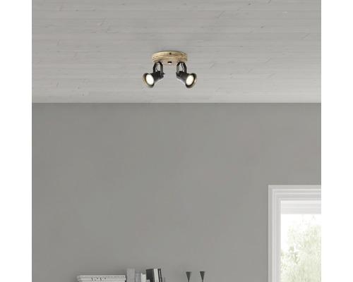 Rosace de plafond Dorisa 2 ampoules 5W GU10