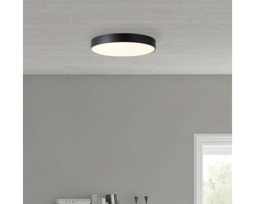 Plafonnier LED Slimline à intensité lumineuse variable CCT 60W 4800 lm 3000-6500 K blanc chaud-blanc lumière naturelle hxØ 85/490 mm blanc/noir avec télécommande