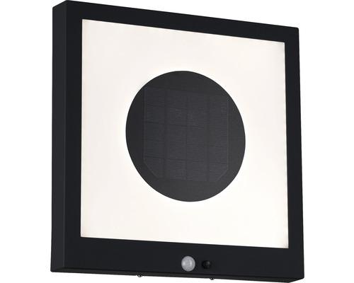 Panneau solaire avec détecteur de mouvements 1,2W 35 lm 3000 K blanc chaud HxlxP 300x300x45 mm Taija anthracite
