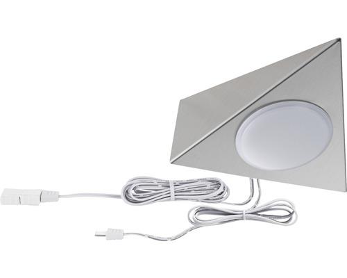 Éclairage de meuble Paulmann Clever Connect Tunable White 2,1W 120 lm 2700- 6500 K blanc chaud-blanc naturel hxlxp 10x350x25 mm Spot Trigo nickel brossé 12V