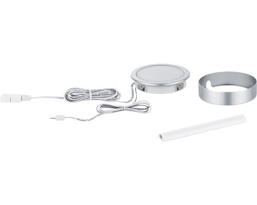Éclairage de meuble Paulmann Clever Connect Tunable White 2,1W 85 lm 2700- 6500 K blanc chaud-blanc naturel hxØ 17x65 mm Spot Disc chrome mat 12V