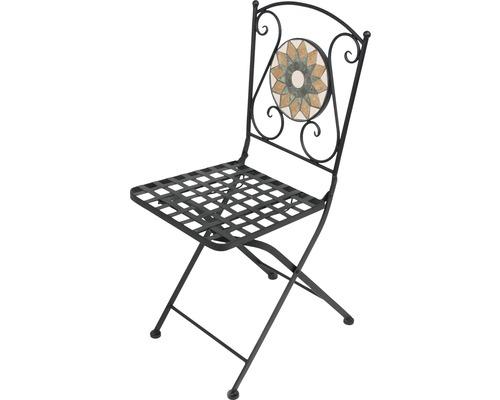 Chaise pliante Retro Garden Place pliante avec décor mosaïque