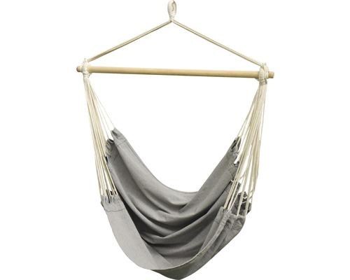 Fauteuil suspendu Garden Place 100 x 128 cm bois coton polyester gris