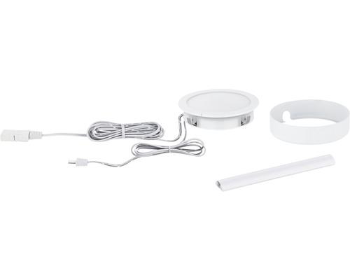 Éclairage de meuble Paulmann Clever Connect Tunable White 2,1W 85 lm 2700- 6500 K blanc chaud-blanc naturel hxØ 17x65 mm Spot Disc blanc 12V