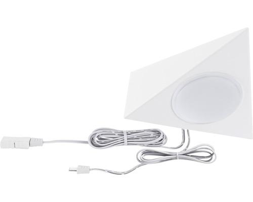 Éclairage de meuble Paulmann Clever Connect Tunable White 2,1W 120 lm 2700- 6500 K blanc chaud-blanc naturel hxlxp 10x350x25 mm Spot Trigo blanc 12V