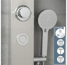 Panneau de douche avec inverseur Schütte Sansibar acier inoxydable-thumb-2