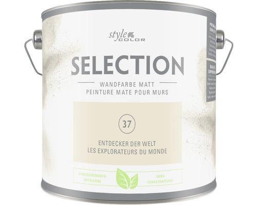 Premium Wandfarbe Style Color SELECTION konservierungsmittelfrei Entdecker der Welt 2,5 L