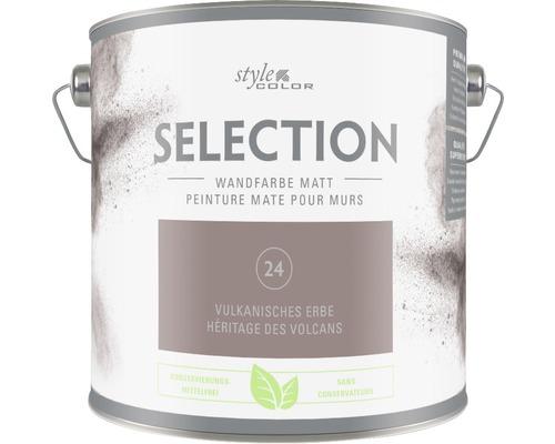 Premium Wandfarbe Style Color SELECTION konservierungsmittelfrei Vulkanisches Erbe 2,5 L