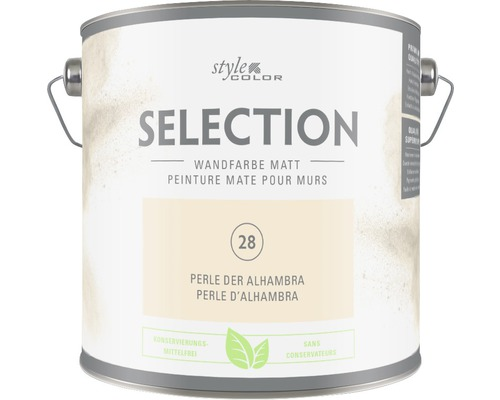 Premium Wandfarbe Style Color SELECTION konservierungsmittelfrei Perle der Alhambra 2,5 L