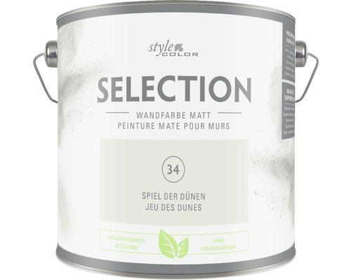 Premium Wandfarbe Style Color SELECTION konservierungsmittelfrei Spiel der Dünen 2,5 L