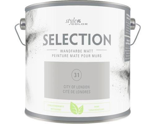Premium Wandfarbe Style Color SELECTION konservierungsmittelfrei City of London 2,5 L