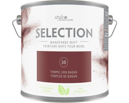 Premium Wandfarbe Style Color SELECTION konservierungsmittelfrei Tempel von Bagan 2,5 L