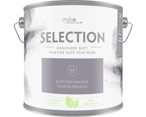 Premium Wandfarbe Style Color SELECTION konservierungsmittelfrei Blüte der Provence 2,5 L