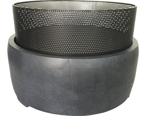 Brasero e'lite en fibre de terre et métal Ø 55 cm h 37,5 cm anthracite