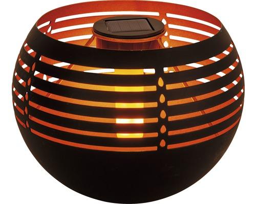 Lampe de table solaire LED 0,5W 1800 K extérieure noir intérieure doré hxl 160x210 mm blanc chaud avec effet flamme