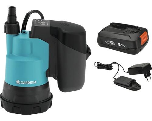 Pompe immergée pour eaux claires sans fil GARDENA 2000/2 18V ( Power for All ) avec batterie et chargeur