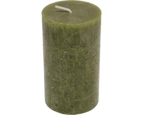 Bougie Rustic Ø 6,8 cm h 12 cm vert