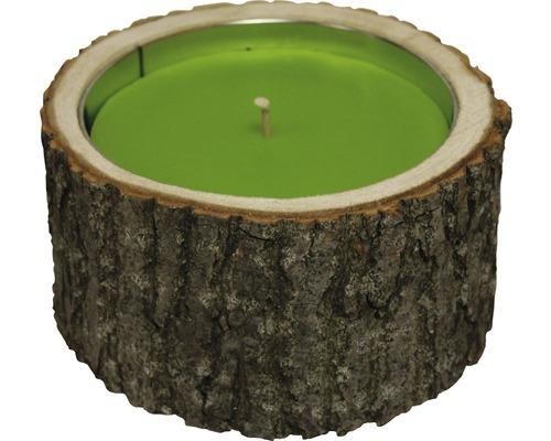 Big Wood Holder H 10 cm Ø 21 cm vert