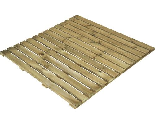 Dalle en bois 100 x 100 cm traitée en autoclave par imprégnation