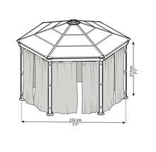Jeu de moustiquaire Palram – Canopia Pavillon Roma-thumb-2