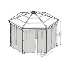 Jeu de rideaux Palram – Canopia Pavillon Roma-thumb-2