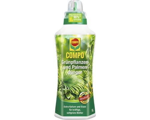 Engrais pour plantes vertes et palmiers Compo 1L