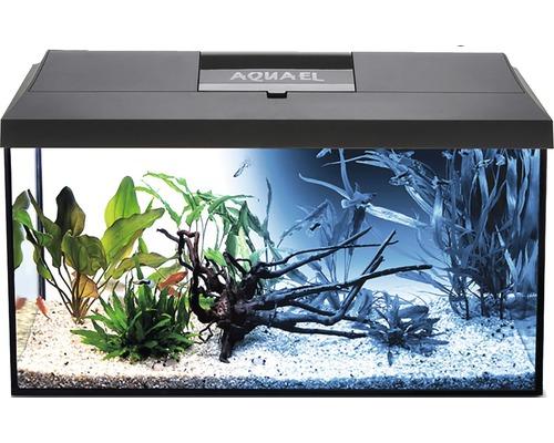 Aquarium Aquael LEDDY Day & Night 40 avec éclairage LED, filtre, pompe, chauffage, sans meuble bas noir