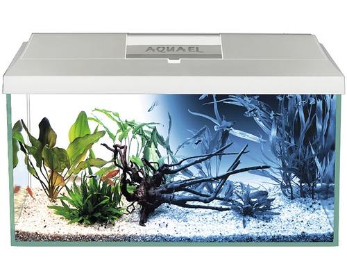 Aquarium Aquael LEDDY Day & Night 40 avec éclairage LED, filtre, pompe, chauffage, sans meuble bas blanc